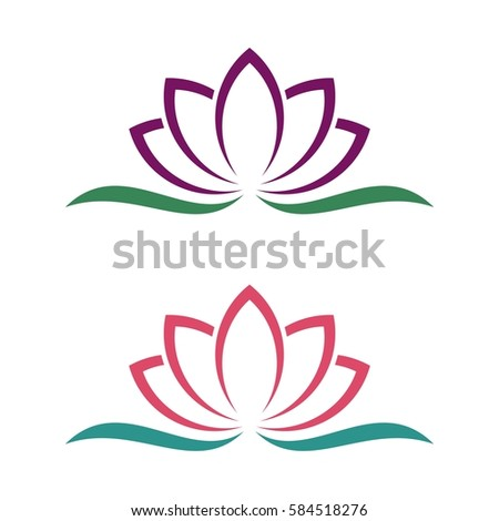 lotus flowers design logo template beauty vector lotus flowers design
