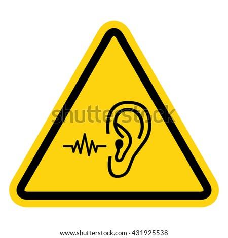 Loud Noise Hazard Symbol Vector
