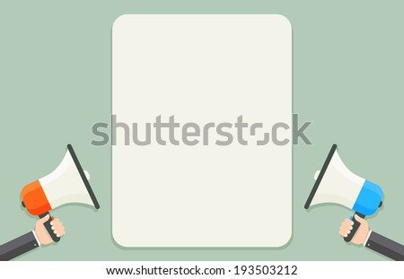 Loud speakers with text template eps8 - stock vector