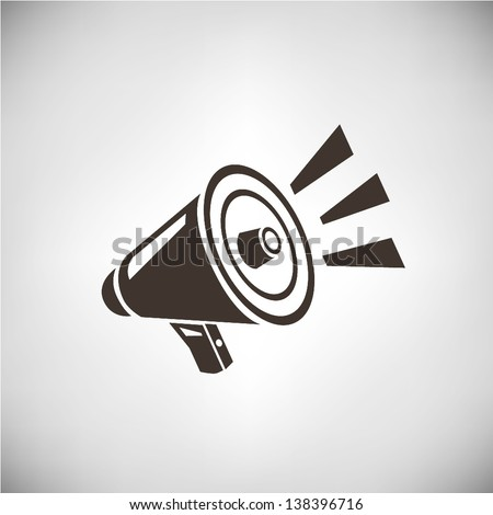 loudspeaker - stock vector