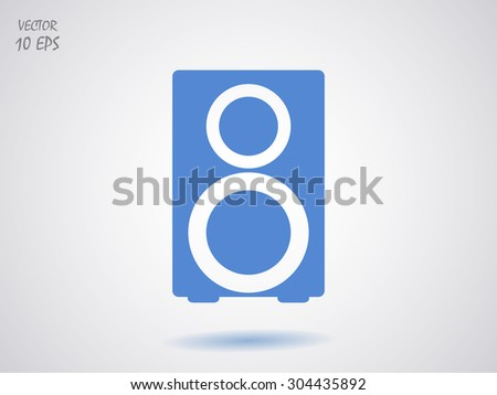 loudspeaker icon - stock vector