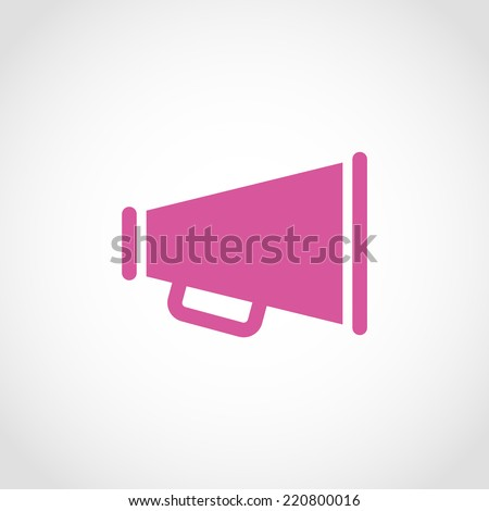 Loudspeaker Icon Isolated on White Background - stock vector
