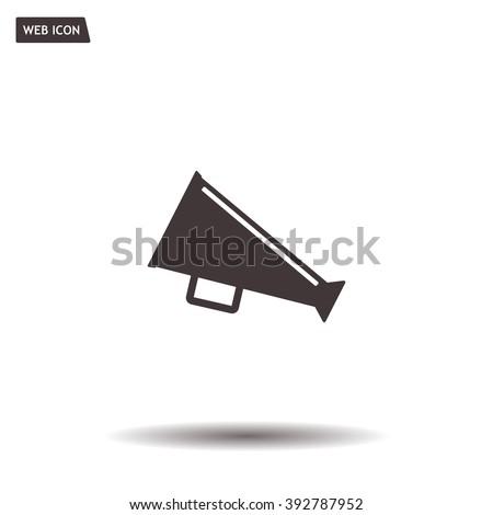 loudspeaker icon . Vector Eps 10 - stock vector