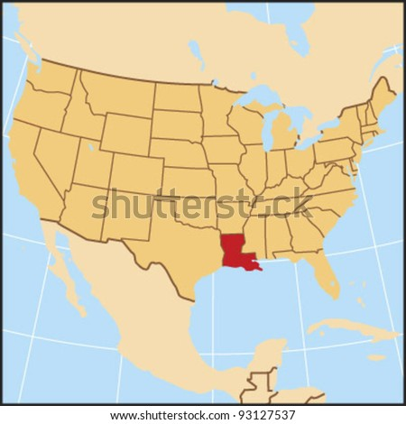 Louisiana Locate Map