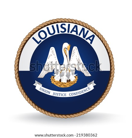 Louisiana Seal - stock vector