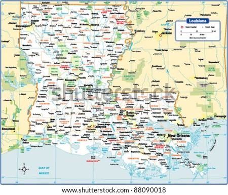 Louisiana State Map Stock Images RoyaltyFree Images Vectors - Louisana state map