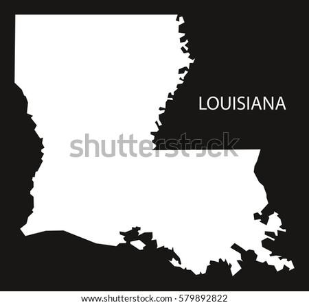 Louisiana Usa Map Grey Stock Vector Shutterstock - Lousiana us map