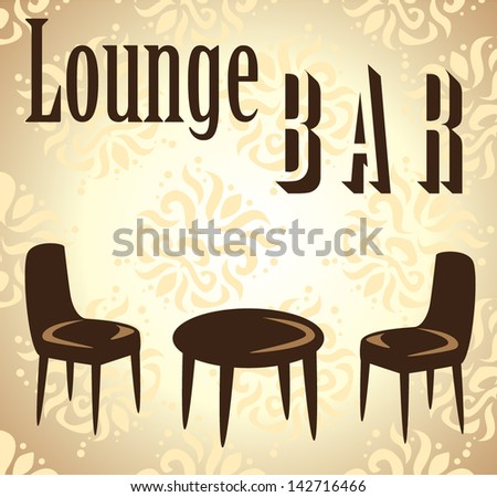 lounge bar design menu - stock vector