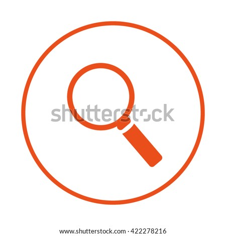 Loupe,Search icon. Find icon. - stock vector