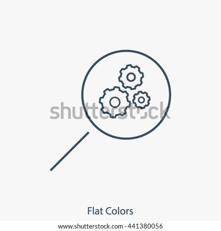 loupe vector icon - stock vector