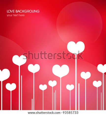 Love background - stock vector