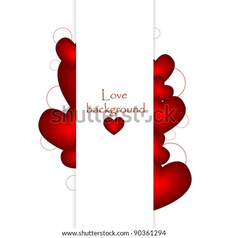 love banner with place for your text. Vector illustration - stock vector