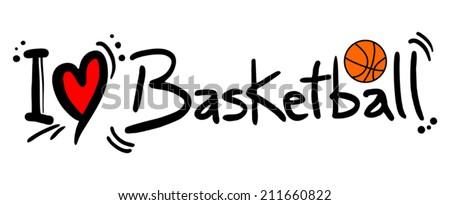 Love basketball - stock vector