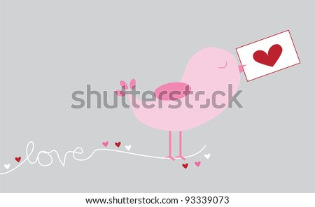 Love Bird - stock vector