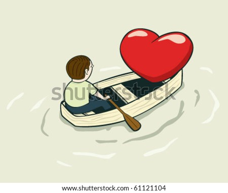 love boat - stock vector