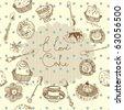 love cake background - stock vector