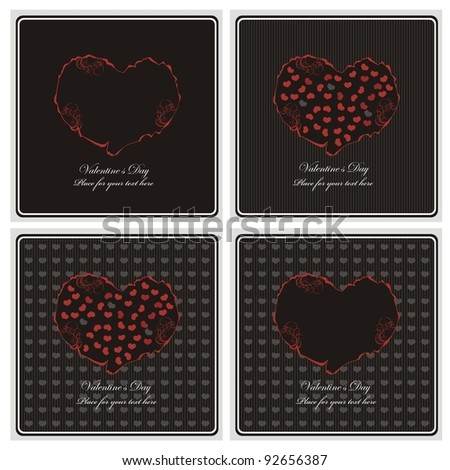 love card - stock vector