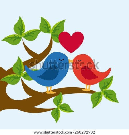 love card design, vector illustration eps10 graphic  - stock vector
