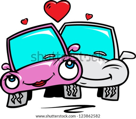 Love cars - stock vector