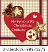 Love Christmas cookies card - stock photo