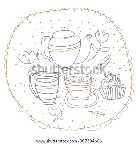 Love, coffee, tea, vector,