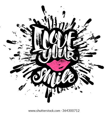 Love concept inspirational hand lettering motivation poster. Watercolor  Artistic design for a logo, greeting cards, invitations, posters, banners, seasonal greetings illustrations. - stock vector