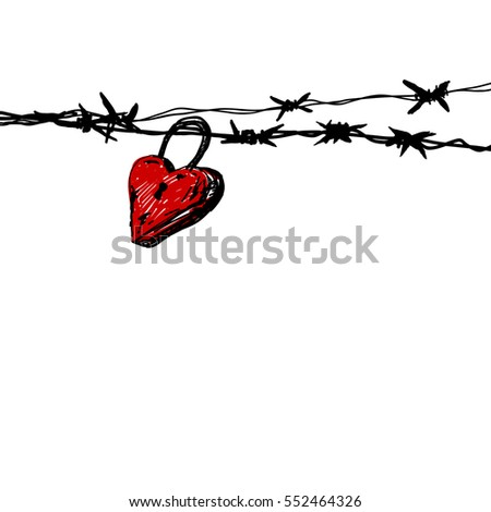 Simple Barbed Wire Drawing barb stock images, royalty-free images & vectors | shutterstock