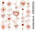 love concept pattern - stock photo