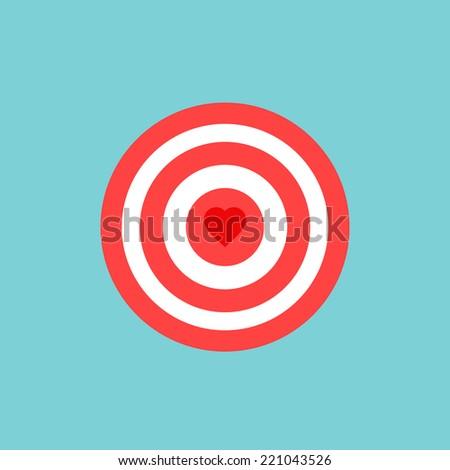 love darts icon  - stock vector