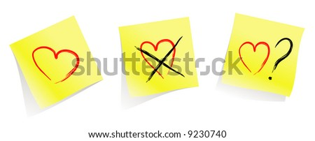 love / don't  love / do you love me?  / yellow pages / vector - stock vector