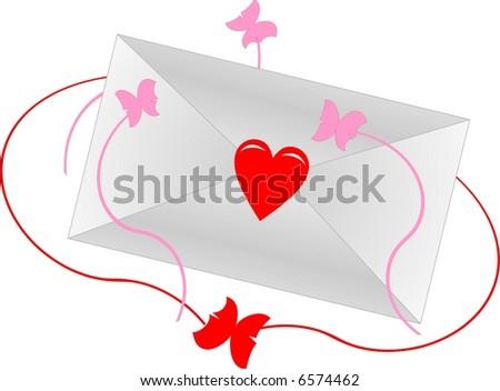 Love envelope - stock vector