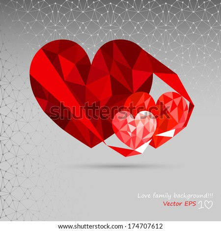 Love - Family - Background. - stock vector