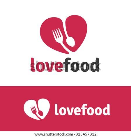 Love food,Food Logo,Vector Logo Template. - stock vector