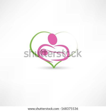 love for children icon - stock vector
