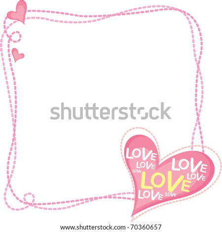 love frame - stock vector