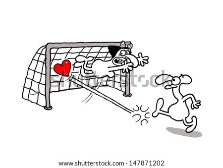 Love goal - stock vector