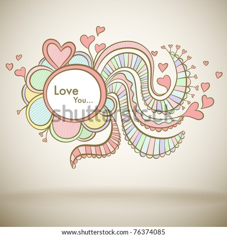 Love greeting card for Mothers day or Valentine - stock vector