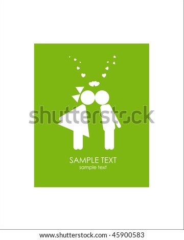 Love. Greeting card. Look through my portfolio to find more images of the same series - stock vector