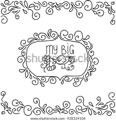 Love hand drawn background.Vector