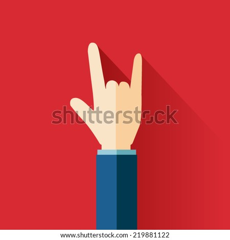 Love hand sign.Vector illustration - stock vector