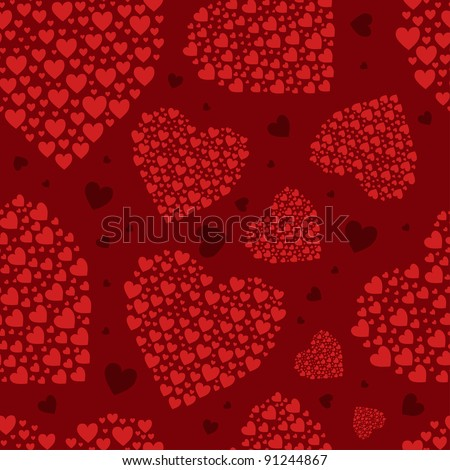love hart pattern - stock vector