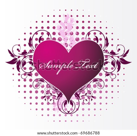 love heart - stock vector