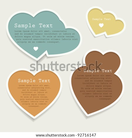 Love heart bubbles set - stock vector