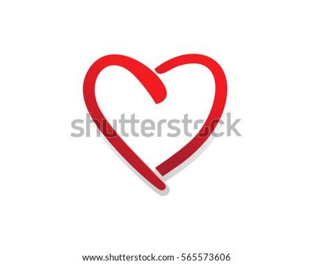 Heart Love Vector Valentine Card Love Stock Vector 675945259 ...