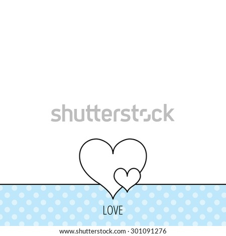 Love hearts icon. Lovers sign. Couple relationships. Circles seamless pattern. Background with icon. Vector - stock vector