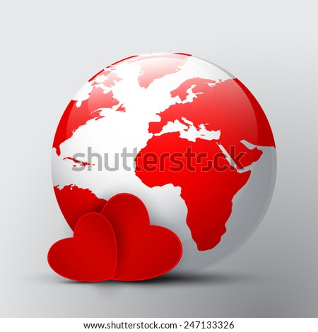 love in the world - stock vector