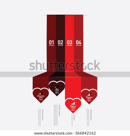Love infographic - stock vector