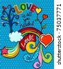 love is all you need - stock vector
