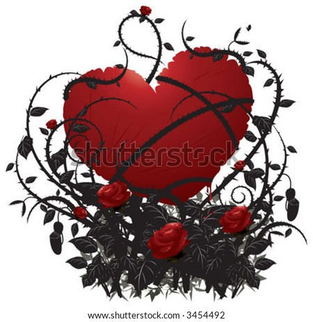 Love is hurt,beware with it - stock vector