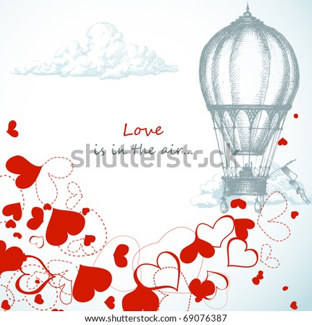 Love is in the air... - stock vector